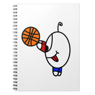 funny basketball dude spiral note books