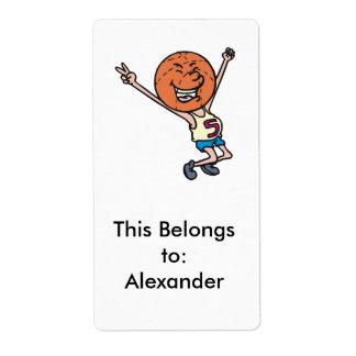 funny basketball fan mascot shipping label