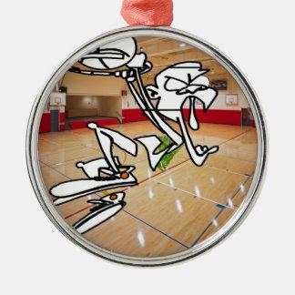FUNNY BASKETBALL IMPRESSION CHRISTMAS ORNAMENT