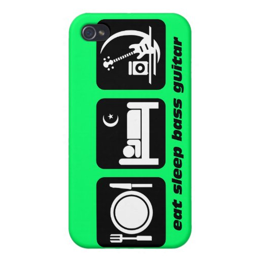 funny bass guitar iPhone 4 cases