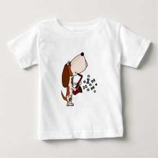 Funny Basset Hound Dog Playing Saxophone Baby T-Shirt