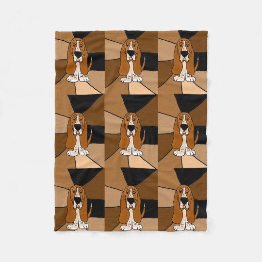 Funny Basset Hound Fleece Blanket
