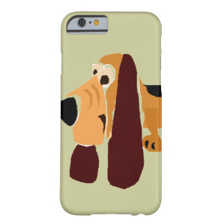 Funny Basset Hound Primitive Art Barely There iPhone 6 Case