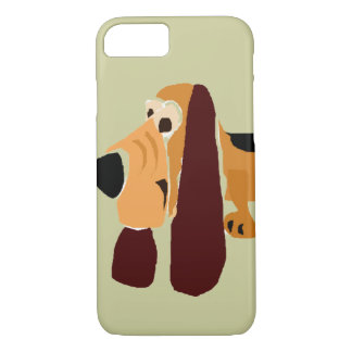 Funny Basset Hound Primitive Art iPhone 7 Case