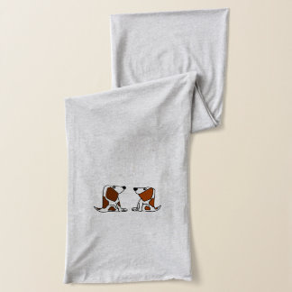 Funny Basset Hound Puppy Dogs Scarf