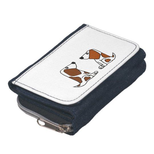 Funny Basset Hound Puppy Dogs Wallet