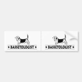 Funny Bassett Hound Dog Bumper Sticker