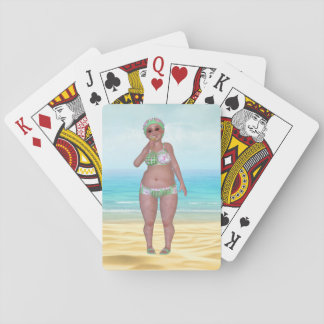 Funny Bathing Beauty Beach Playing Cards