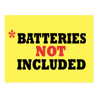 Funny Batteries Not Included Postcard