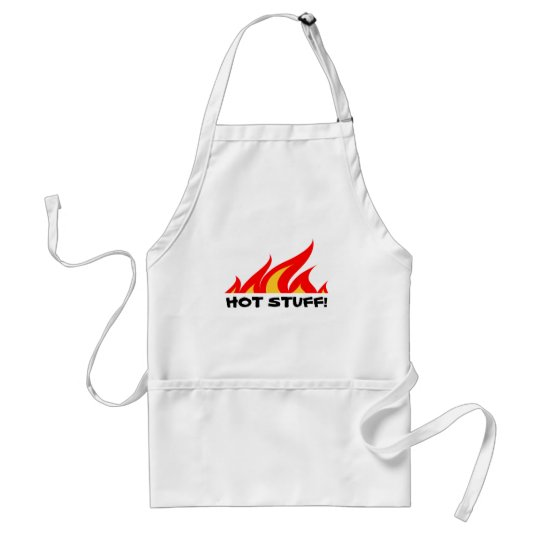 Funny BBQ apron with fire flames | Hot