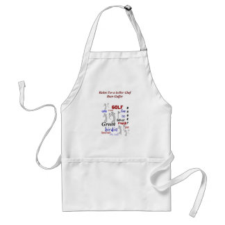 Funny BBQ Better Chef than Golfer Standard Apron