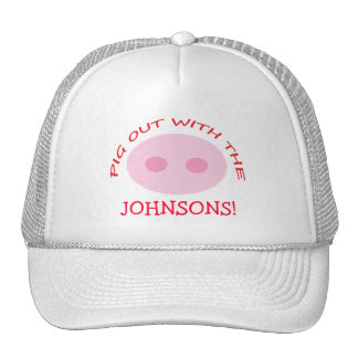 Funny BBQ Chef Hat Personalized with Pig Nose