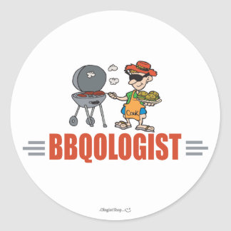 Funny BBQ Classic Round Sticker