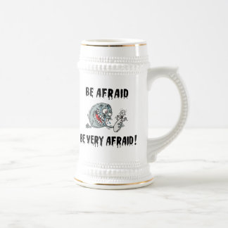 Funny Be Afraid Bowling Beer Steins
