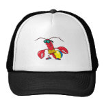funny beach going  lobster cartoon mesh hat