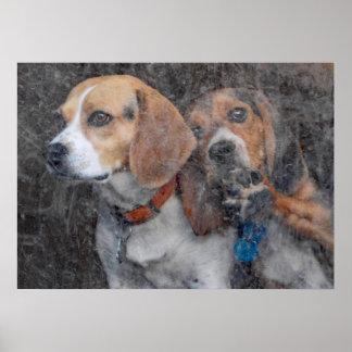 Funny Beagle Dirty Storm Door Poster