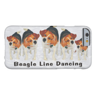 Funny Beagle Line Dancing Barely There iPhone 6 Case