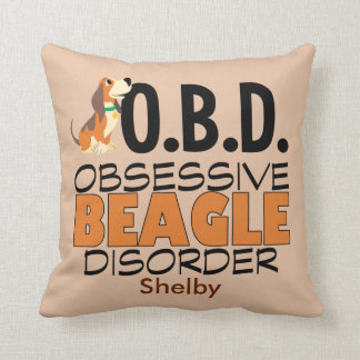 Funny Beagle Obsessed Custom Cushion