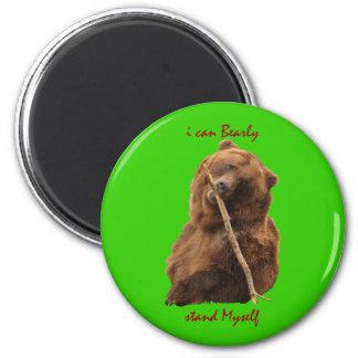 Funny Bear 6 Cm Round Magnet