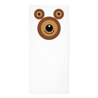 Funny bear face custom rack cards