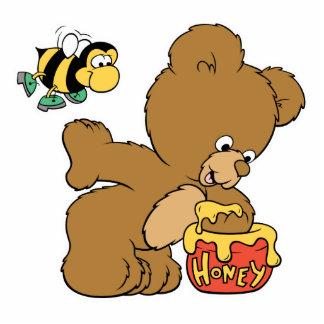 Funny Bear Sneaking Honey Photo Cutouts