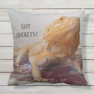 Funny Bearded Dragon Photo Design Outdoor Cushion