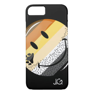 Funny Bearded Happy Gay Bear Pride Flag iPhone 7 Case