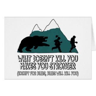 Funny bears greeting card