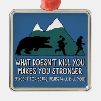 Funny bears christmas ornament