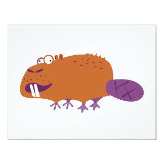 Funny Beaver 11 Cm X 14 Cm Invitation Card