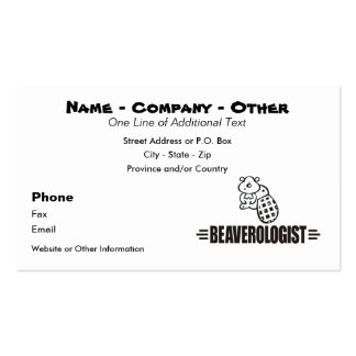 Funny Beaver Business Card Templates