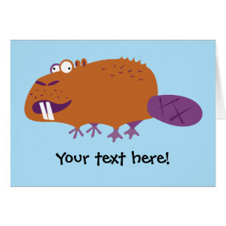 Funny Beaver Greeting Card