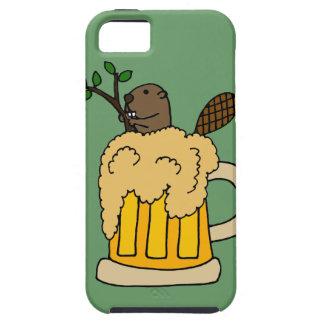Funny Beaver in Beer Mug Tough iPhone 5 Case