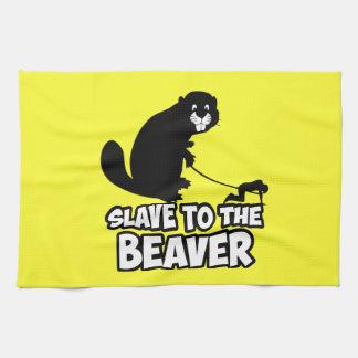 Funny Beaver Tea Towel