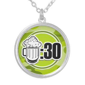 Funny Beer 30 bright green camo camouflage Pendants