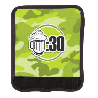Funny Beer 30 bright green camo camouflage Luggage Handle Wrap