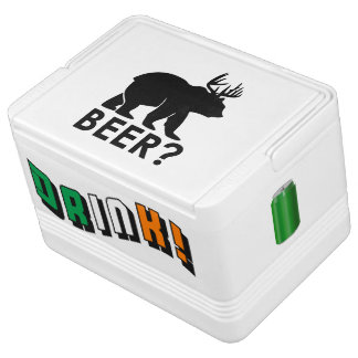 Funny Beer? and Drink! with Green Can Igloo Cool Box
