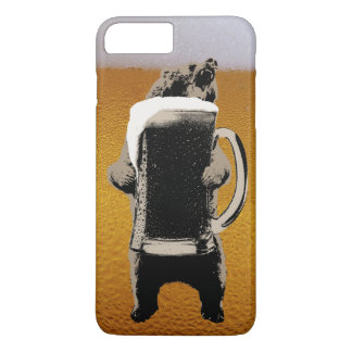 Funny Beer & Bear iPhone 7 Plus Case