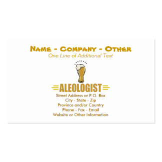 Funny Beer Double-Sided Standard Business Cards (Pack Of 100)