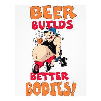funny beer drinker cartoon 21.5 cm x 28 cm flyer