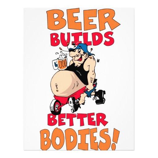 funny beer drinker cartoon flyer design