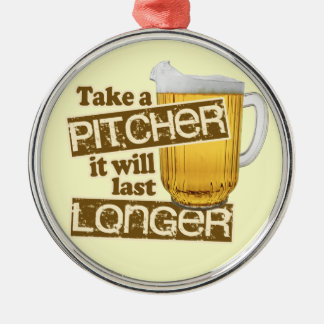Funny Beer Drinking Humor Christmas Ornament