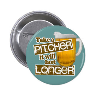 Funny Beer Drinking Parody 6 Cm Round Badge