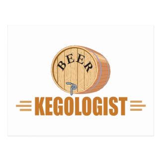 Funny Beer Keg Postcard