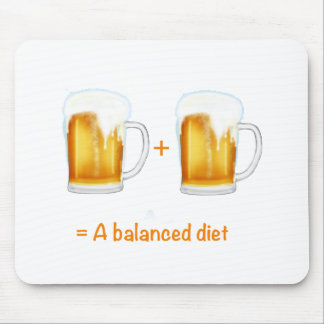 Funny Beer lovers gifts - can customise Mouse Mat