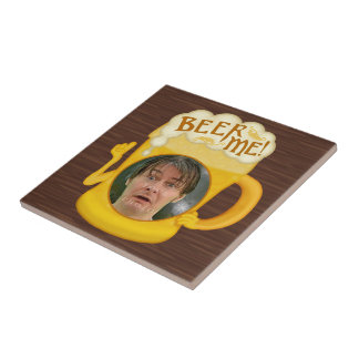 Funny Beer Me Drinking Humor | Personalized Photo Tile