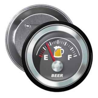 Funny - Beer Meter Fill'er Up Gauge 7.5 Cm Round Badge