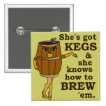 Funny Beer or Wine Brewer Pinback Button