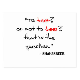 Funny Beer Quote Postcard