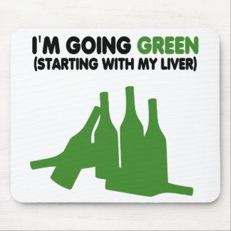 Funny beer slogan mouse pad